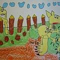 袋鼠媽媽-繪畫-中班