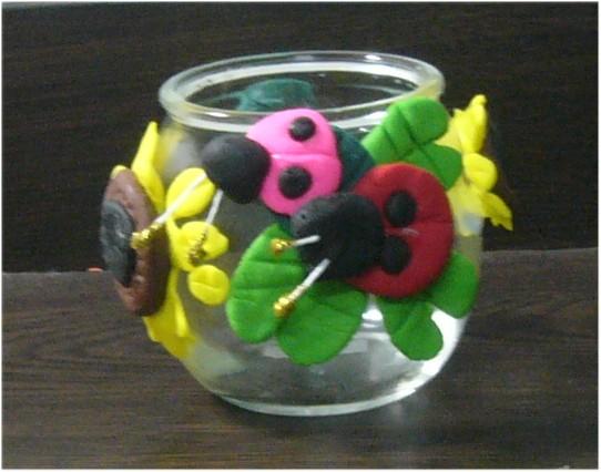 瓢蟲置物罐-捏塑-中班