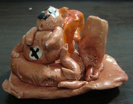 松鼠- 陶土捏塑- 大班
