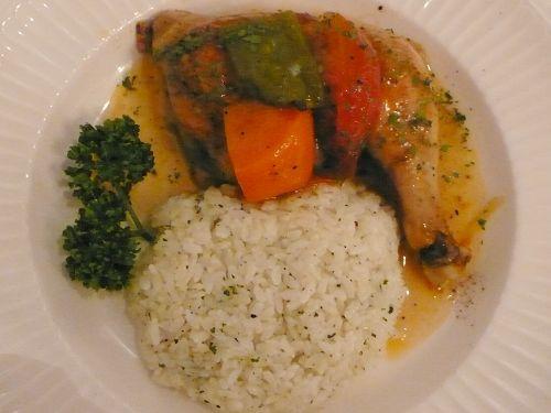 白酒蔬菜烤雞腿