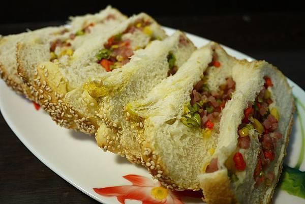 鮮蔬火腿吐司2