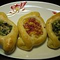 火腿玉米及七味蔥花麵包
