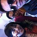 飛機上自拍3人組