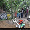CY80_Trenching_in_bamboo_plantation 小型摺疊中耕機,耕耘機 (Power tiller/Garden tiller/Power weeder/Cultivator/Hand tractor/Rotary hoe)