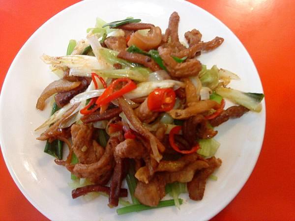 炒肉 (客家小炒)