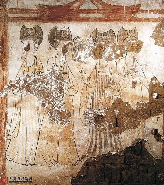 唐•新城長公主墓壁畫•1