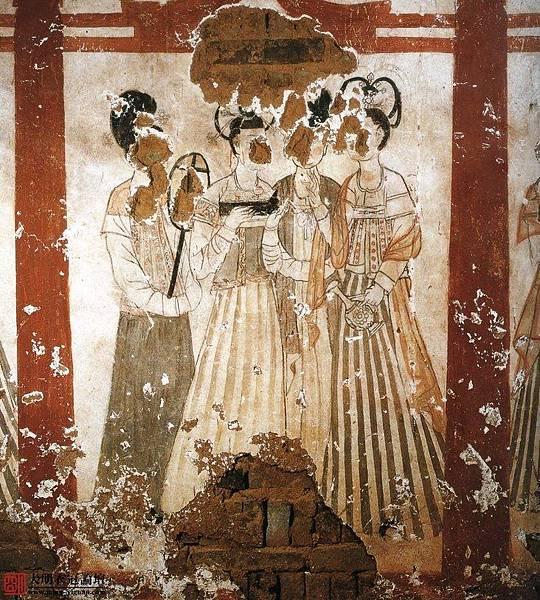 唐•新城長公主墓壁畫•2。