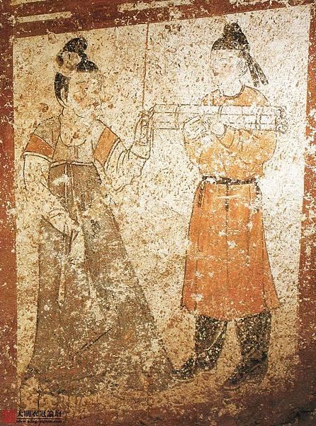 唐•新城長公主墓壁畫•11。