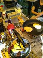 煎鬆餅當早餐