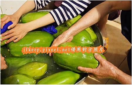 清洗青木瓜