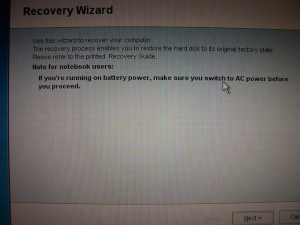 Recovery Wizard第一個畫面