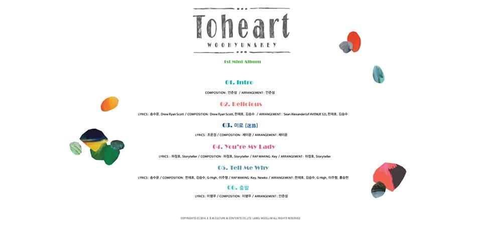 ToHeart(WooHyun&Key)-曲目表