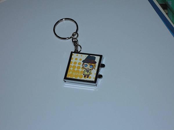 方形珠光鏡子鑰匙扣