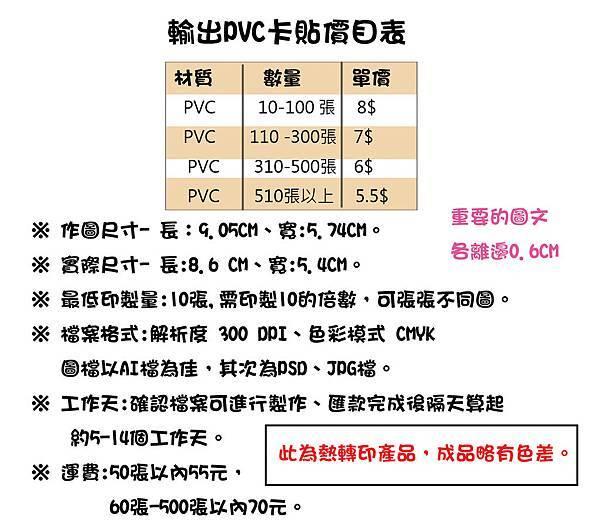 輸出PVC卡貼