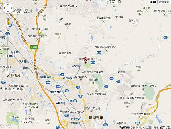 太宰府地圖