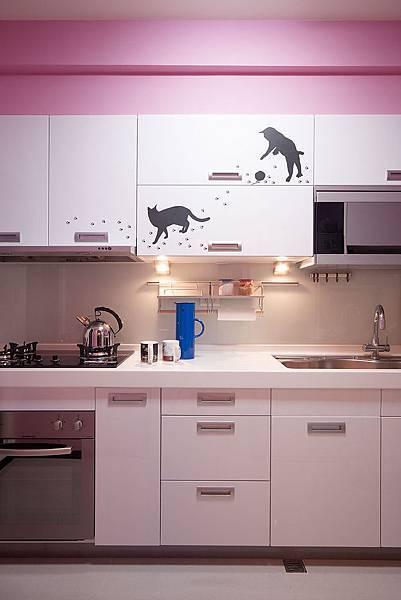 13竹北築藝郭公館廚具造型壁貼IMG_8811