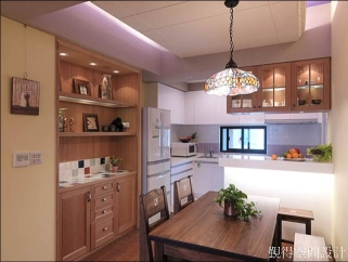 覲得-開放式廚房及餐廳