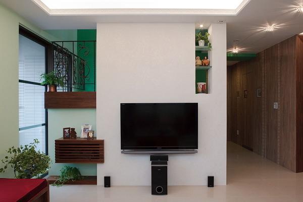 電視牆,電視櫃兼展示功能,覲得.jpg