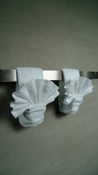 連毛巾都很用心的摺成貝殼狀