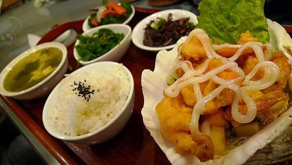 鮮果蝦球定食