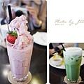 鮮草莓冰沙&冰抹茶歐蕾