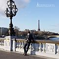 亞歷山大三世橋與艾菲爾鐵塔1
