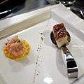前菜-鮮蝦沙拉-香蘋油封培根1