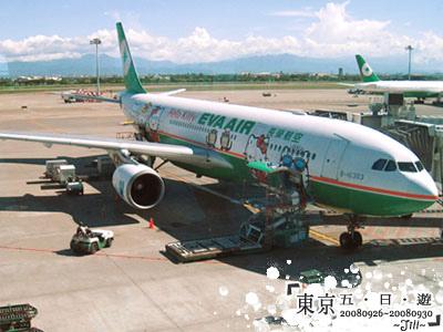 這台就是等等要搭乘的Hello Kitty班機