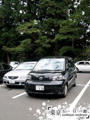 停車場的車,日本的車都可愛的有特色呢