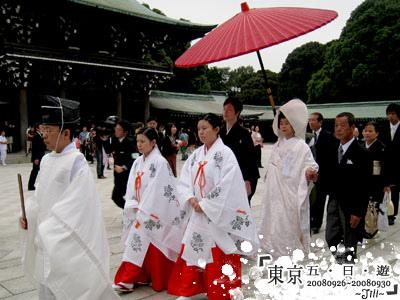 剛好又遇到日式婚禮耶!整個超莊嚴的