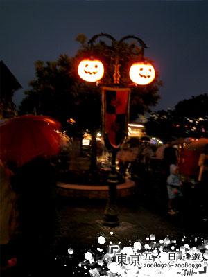 晚上的南瓜燈,多了份神祕的感覺喔