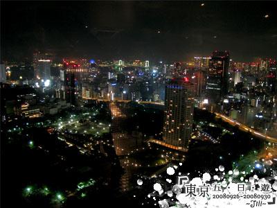 哇~夜景真的很美,雖然我只看得懂彩虹大橋和摩天輪