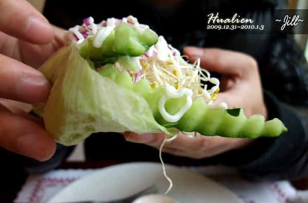 喜歡這個生菜包沙拉~好吃!