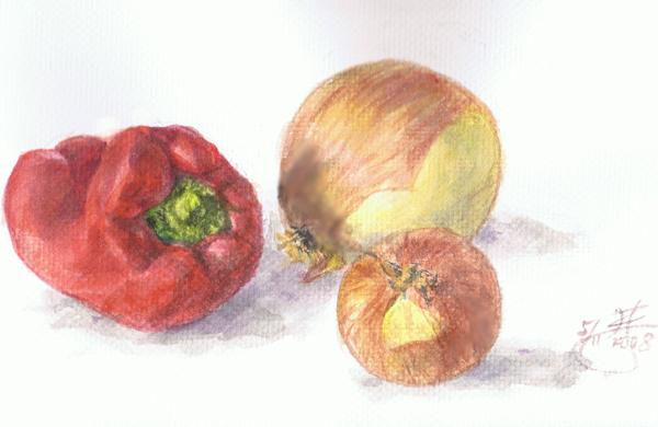 水彩練習-蔬菜