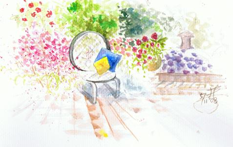 水彩練習-花園角落