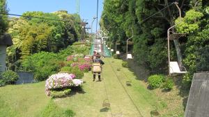 通往松山城的リフト