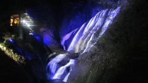 袋田の滝のライトアップ