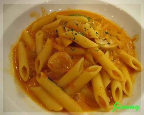 茄汁鮮蝦麵