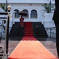 紅地毯與撐傘老爹