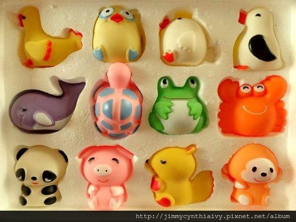 老軟膠娃娃 12種動物P007029