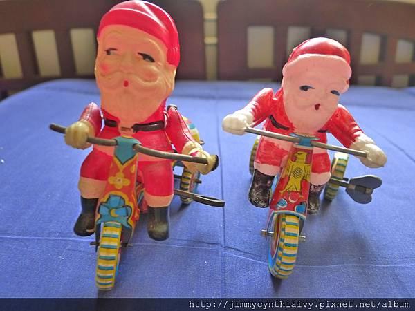 老鐵皮玩具- 聖誕老人三輪車 5