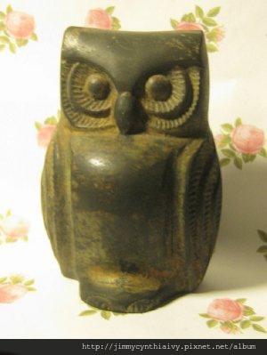 1950年代末期 貓頭鷹 老銅雕 P1096