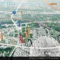 [新竹] 富宇建設「富宇九如」2012-08-15 001 空拍位置合成參考圖