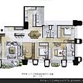 [新竹] 富宇建設「富宇九如」2012-08-15 005 A1戶平面參考圖