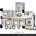 [新竹] 富宇建設「富宇九如」2012-08-15 006 A2戶平面參考圖