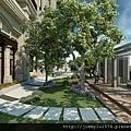 [竹北] 富宇建設「水舍秀樹」2012-11-13 007 庭園透視參考圖