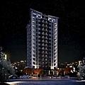 [竹北] 竹益建設「時上S」2013-01-04 001 外觀透視參考圖(夜景)