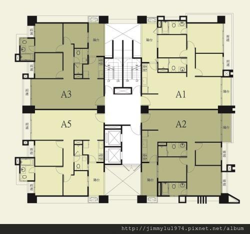 [竹北] 盛亞建設「城心城邑」2013-03-23 007 標準層平面配置參考圖