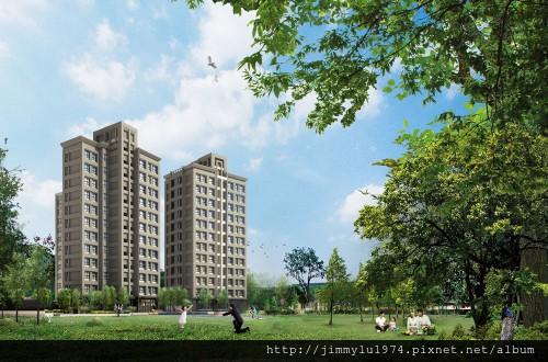 [大雅] 藍鵲建設「藍鵲」(生活家) 2013-04-16 001 外觀透視參考圖