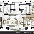 [竹北] 聚合發建設「香禔」(大樓) 2013-06-13 020 AB合併戶家配參考圖
